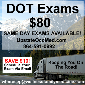 DOT Exams $75 Spartanburg SC